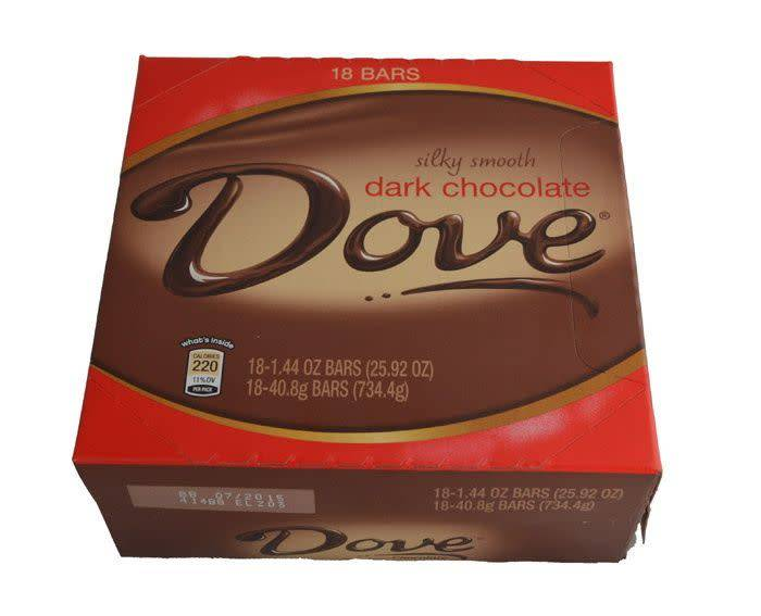 Dove Dark Chocolate Bar, 18ct. Box