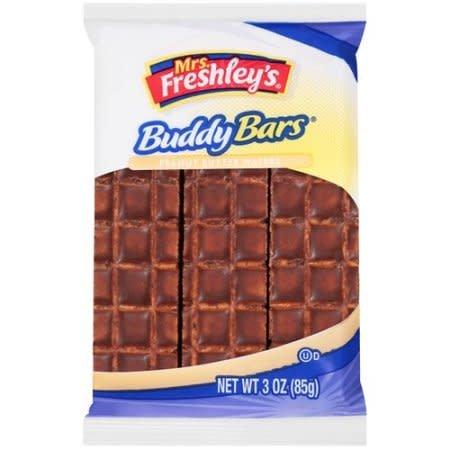 Buddy Bars, Mrs. Freshley's Peanut Butter Wafers, 8ct. Box