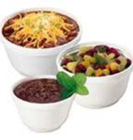 Food Cont., 6oz. Styrofoam Bowl (6B12) 20/50ct. Case
