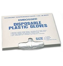 Gloves, Large Disposable Pack 100ct. Box