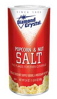 Diamond Crystal Popcorn & Nut Salt, White 24 oz. Canister