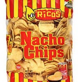 RICOS PRODUCTS, INC. Nacho Chips, Yellow Round Chips 48/3oz. Case