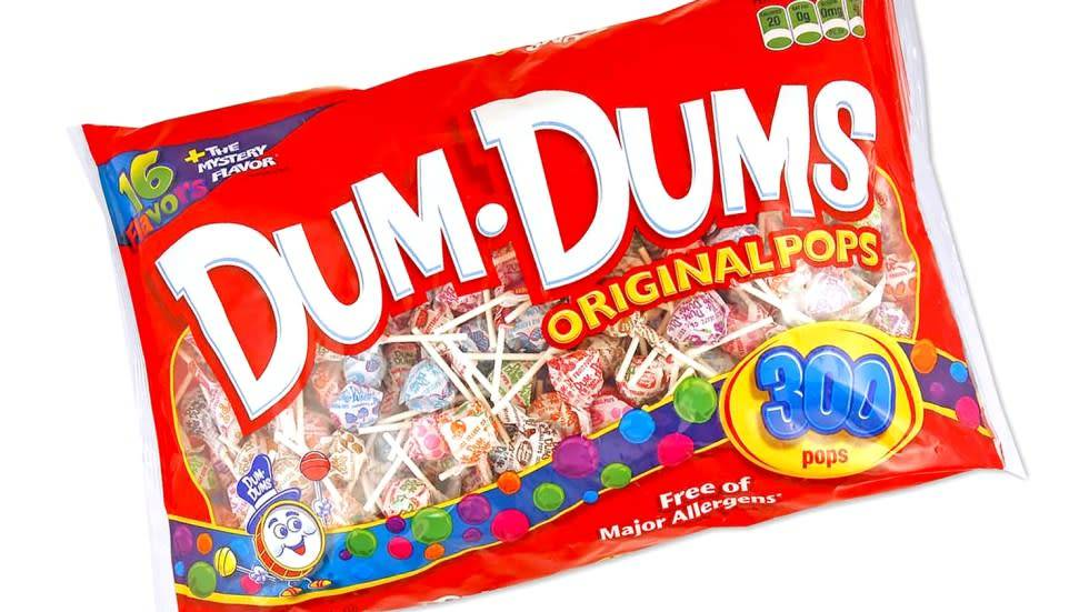 SPRANGLER CANDY Dum Dum Pops, 300ct Bag