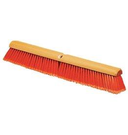"CARLISLE FOODSERVICE PRODUCTS Brooms, 24"" Orange Push Broom"