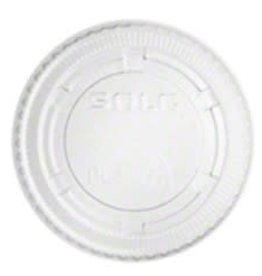 PRIME SOURCE Souffle Lids, P/S 2oz. Clear Vented Lid 25/100ct. Case