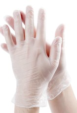 PRIME SOURCE Gloves, Powdered Vinyl, Large 10/100ct. Case