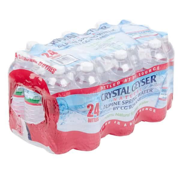 CRYSTAL GEYSER Bottled Water, Crystal Geyser Spring Water 24/16.9oz. Case