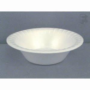 PACTIV CORPORATION Bowl, 12oz. Pactiv White Foam Bowl 125ct. Sleeve