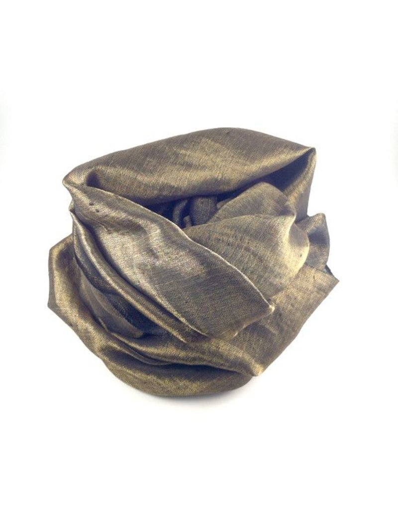 Flats Metallic Cashmere Scarf Black/Gold