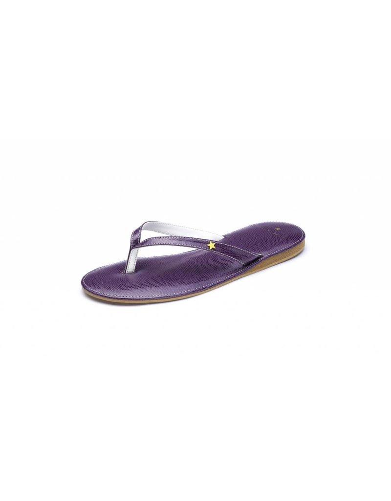 Folly Feet Folly Feet Flip Flop - Snake Purple