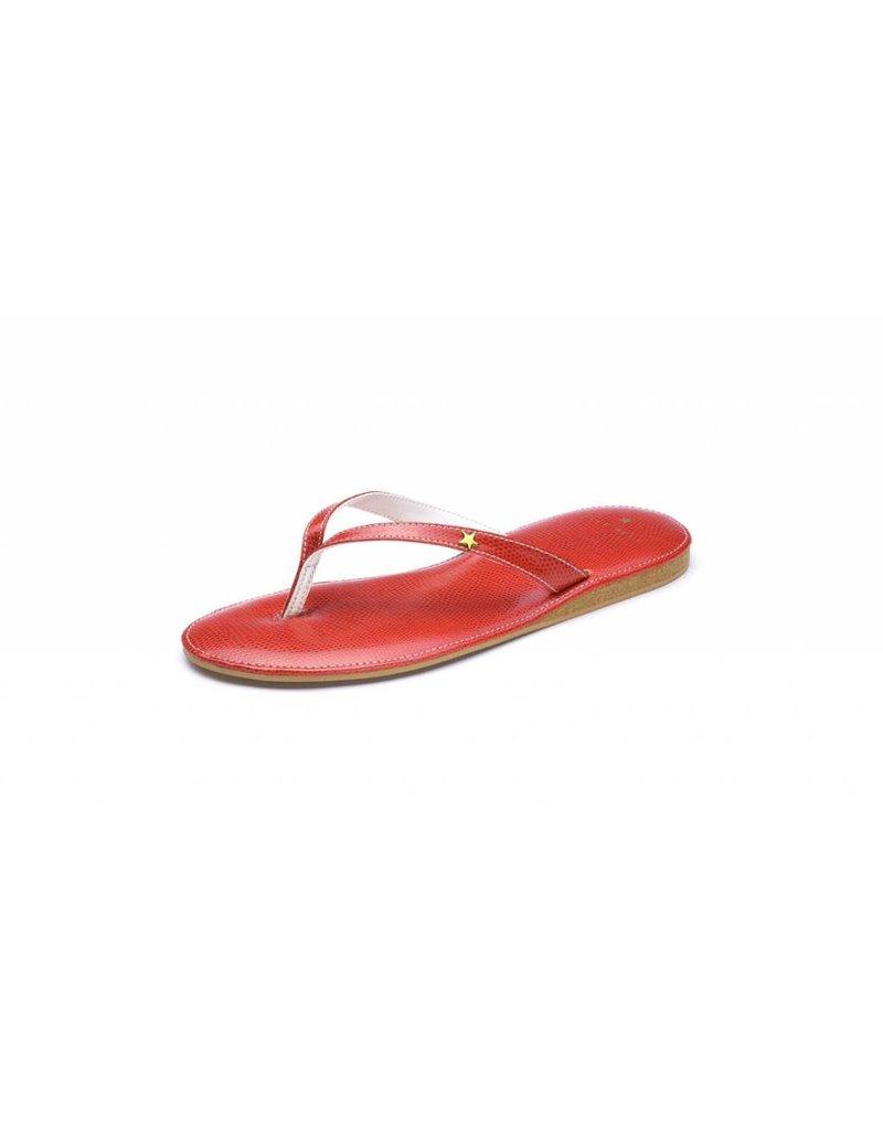 Folly Feet Folly Feet Flip Flop - Snake Red