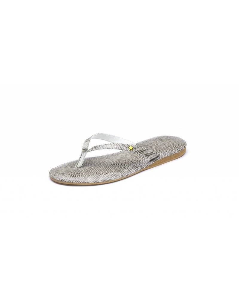 Folly Feet Folly Feet Flip Flop - Snake Taupe