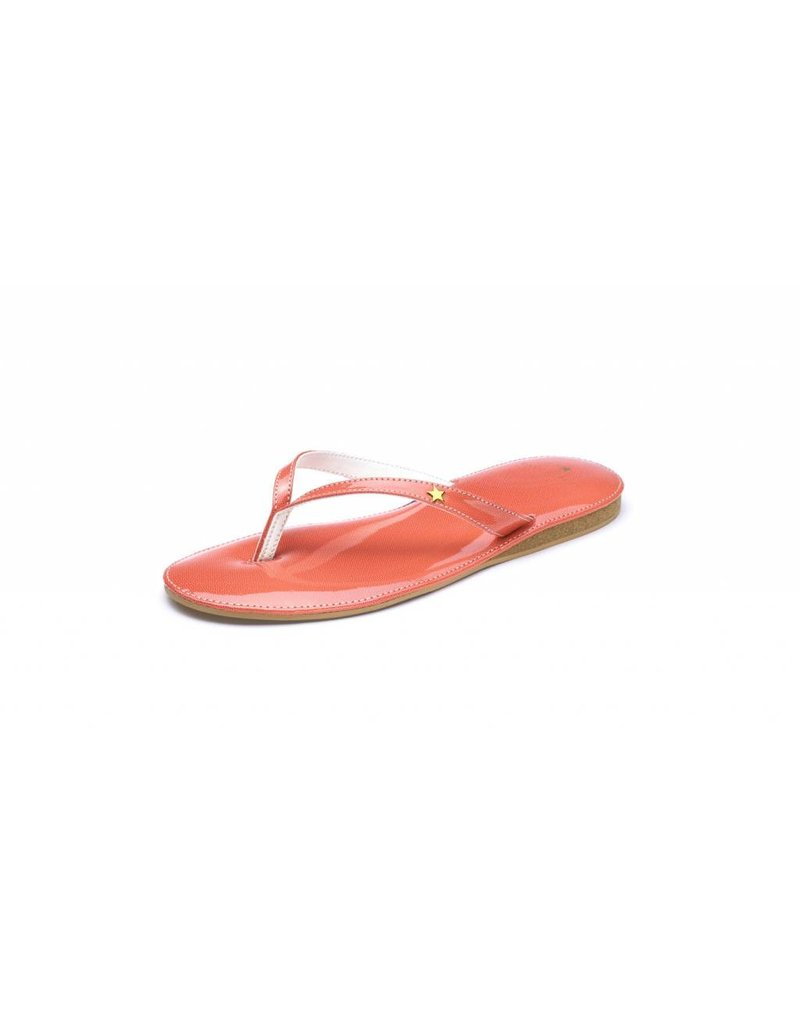 Folly Feet Folly Feet Flip Flop - Patent Coral