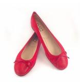 Flats Ballerina- Shagreen Red