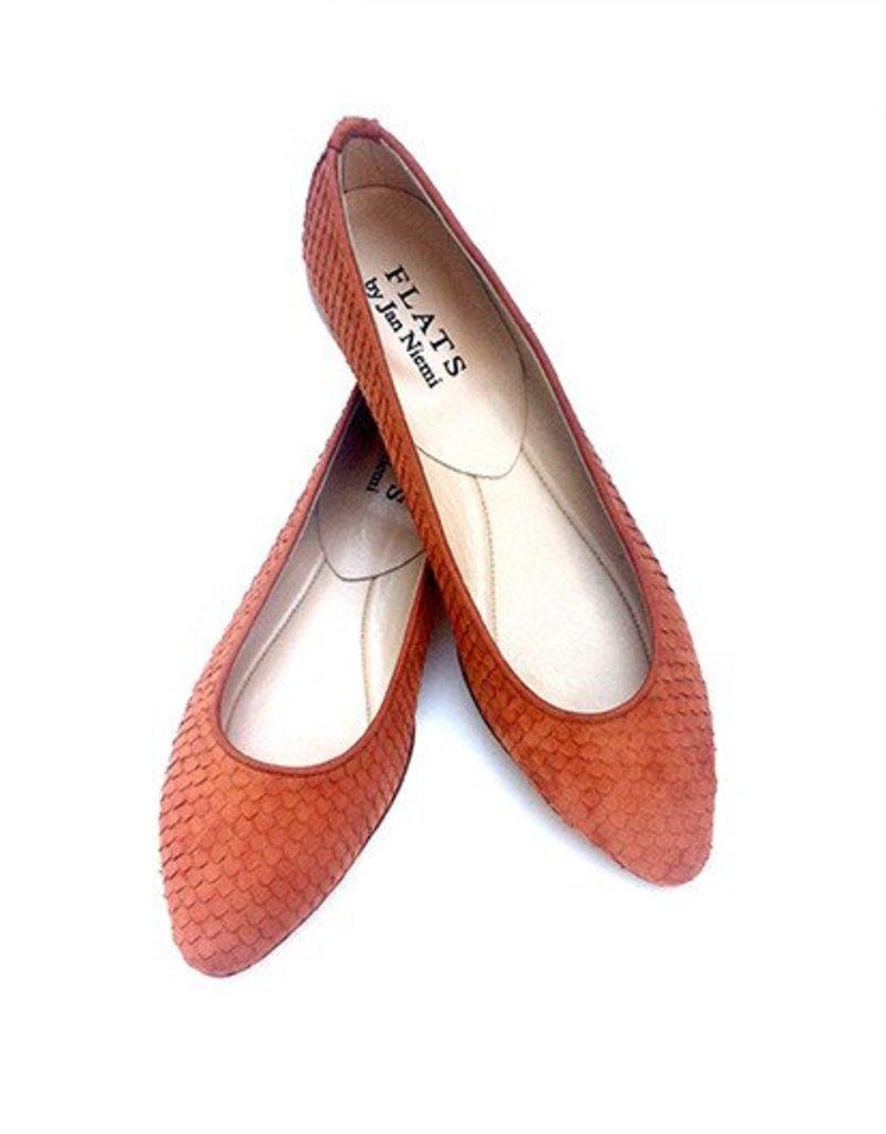 Flats Ballerina- Point Toe Sierra Suede