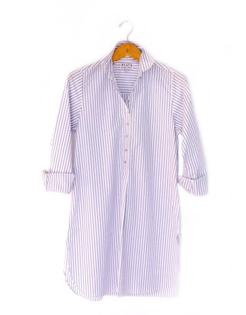 Flats Swiss Shirt - FIC- White/Blue Stripe