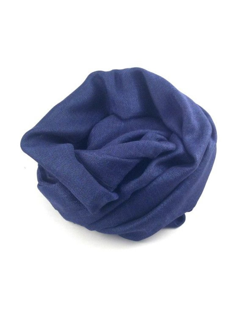 Flats Fine Cashmere Scarf- Navy