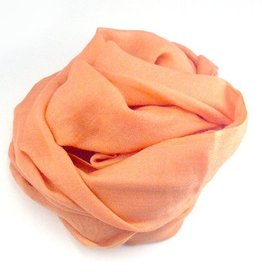 Flats Fine Cashmere Scarf- Peach