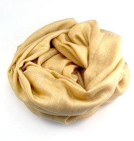 Flats Fine Cashmere Scarf- Gold