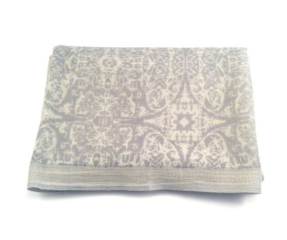 Himalayan Cashmere Company HCC-01-Fine Twill Prtd Burma- Slate/Nickel
