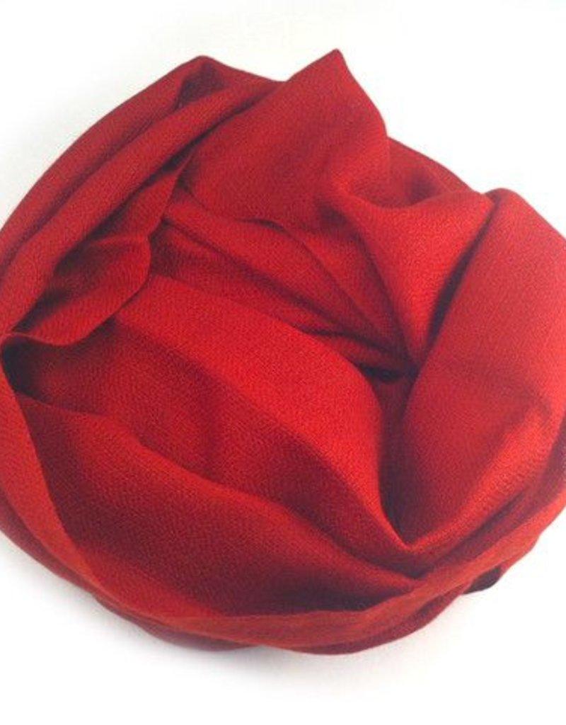 Himalayan Cashmere Company HCC-12- Irregular Basket weave- Dark Chili