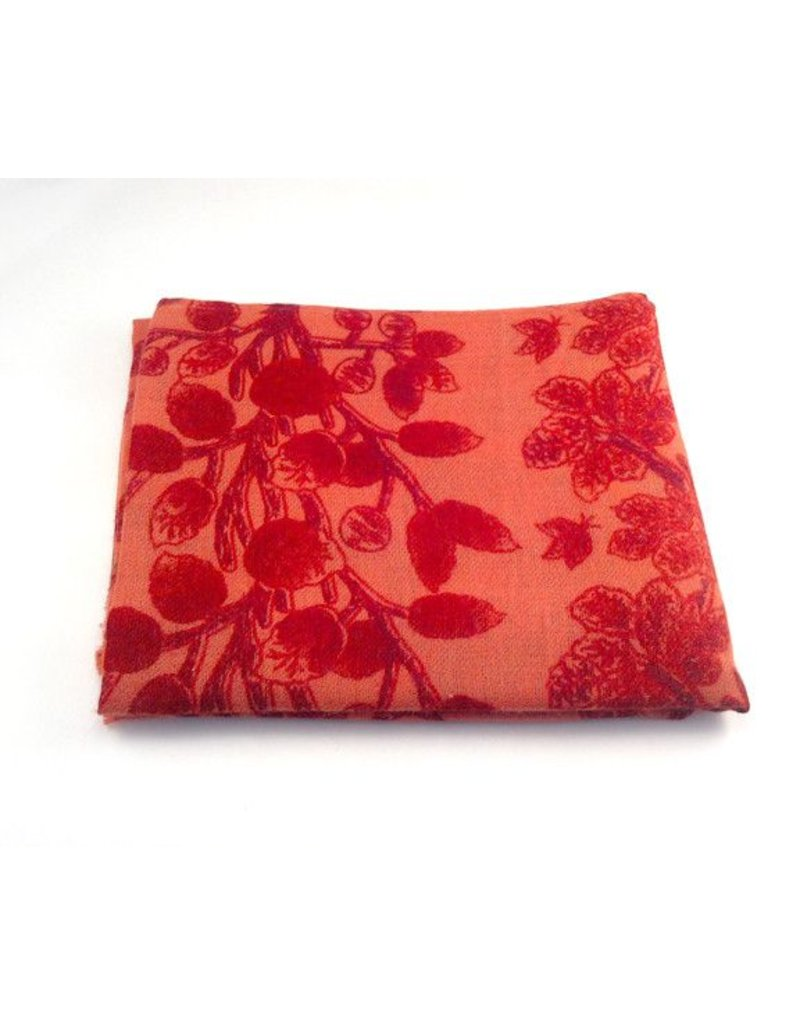 Himalayan Cashmere Company HCC- Fine Twill Big Tapestry- Chinese Red