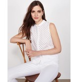 Winser London WL-Broderie Anglaise Sleeveless Top