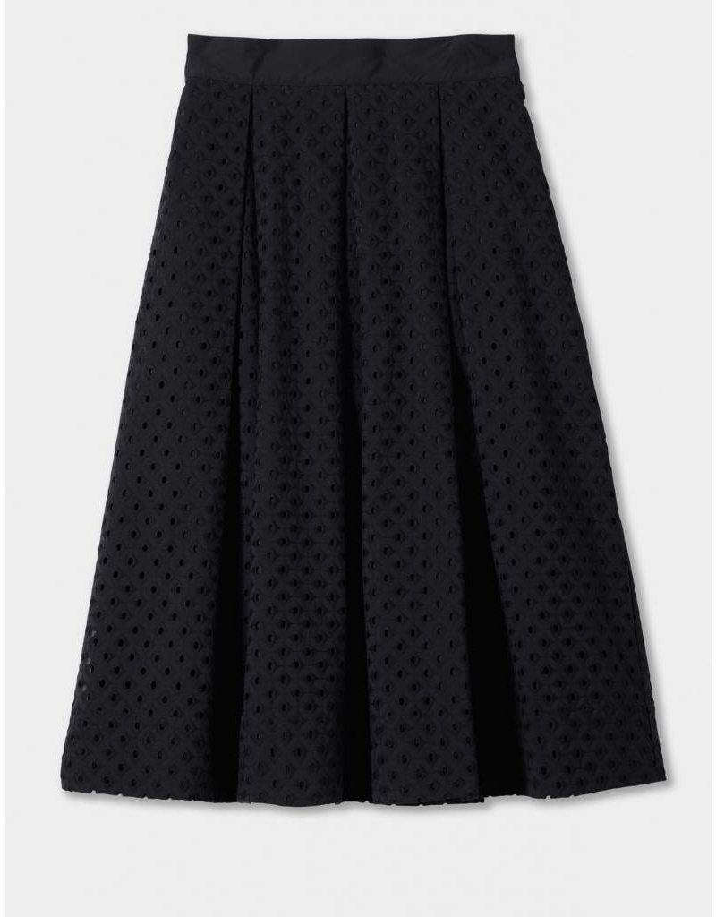 Winser London WL-Broderie Anglaise Full Skirt