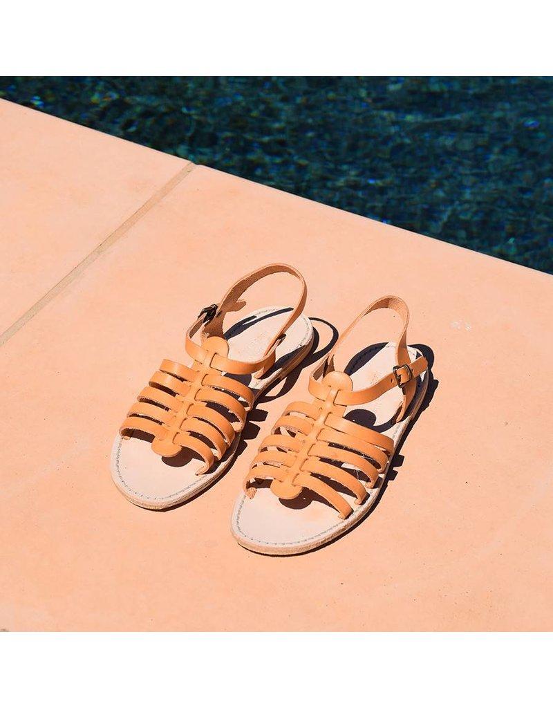 Colette Leather Sandal- Natural