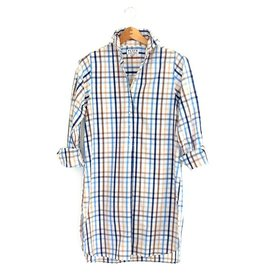 Flats Swiss Shirt - FIC- Beige/Blue/White Check