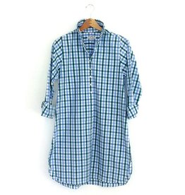 Flats Swiss Shirt - FIC- Green/Blue Check