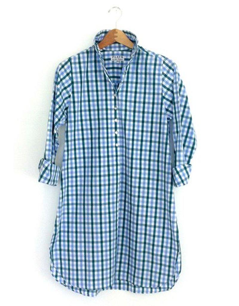 Flats Swiss Shirt - FIC- Green/Blue Check