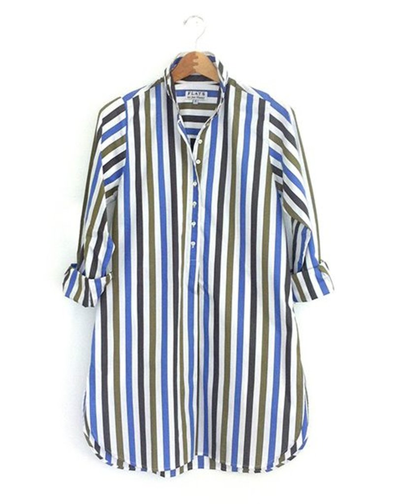 Flats Swiss Shirt - FIC- Blue/Green/White Stripe