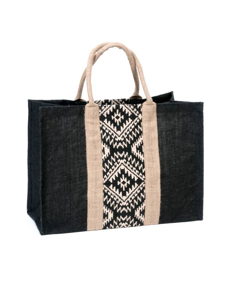Flats Market Bag Black Print