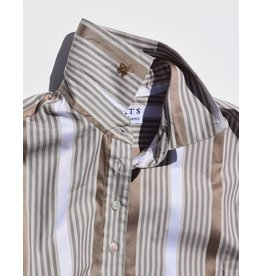 Flats Swiss Shirt - FIC- Brown Stripe