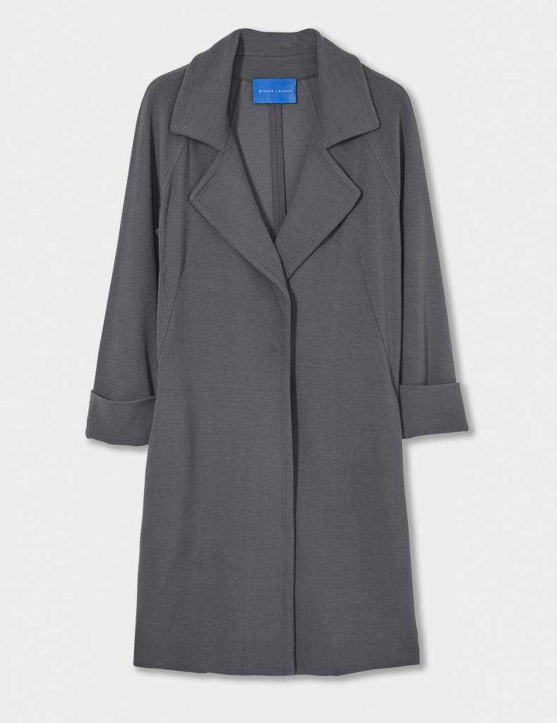 Winser London WL-Crepe Jersey A Line Coat