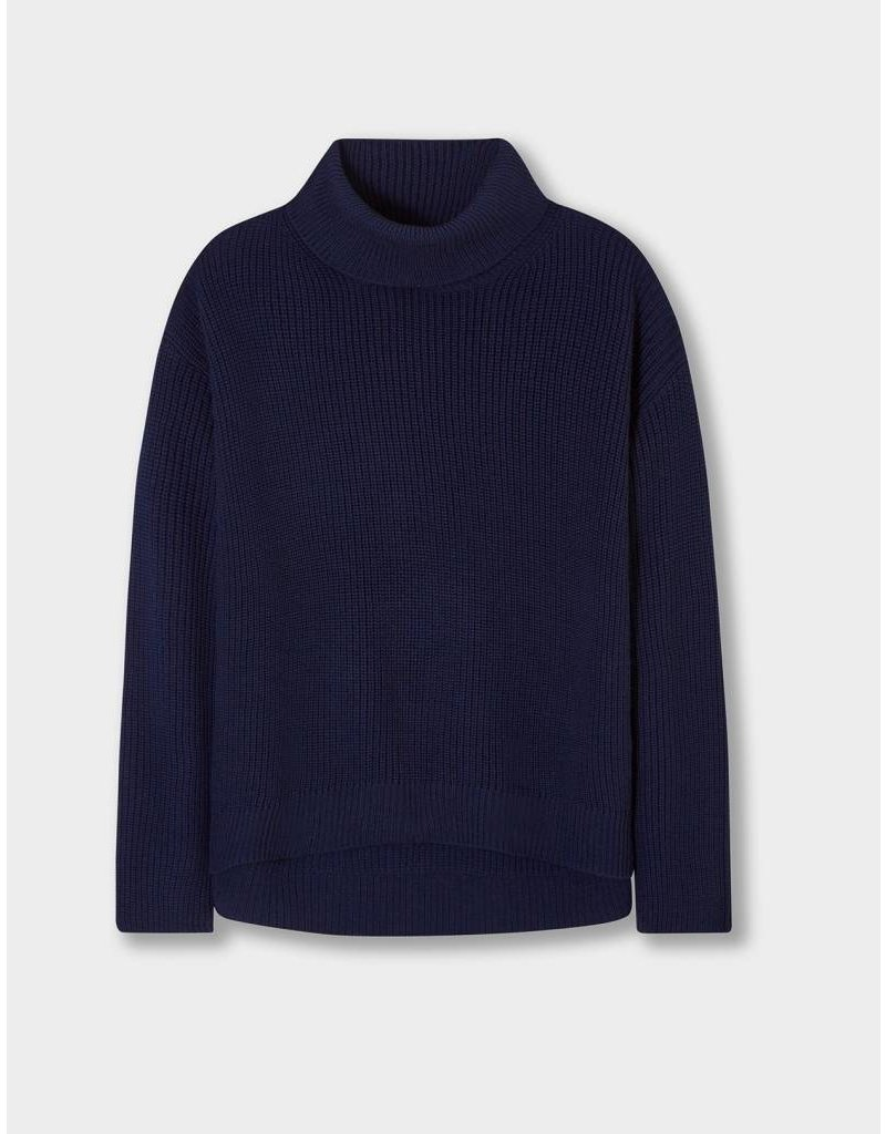 Winser London WL- Casual Rib Roll Neck Jumper