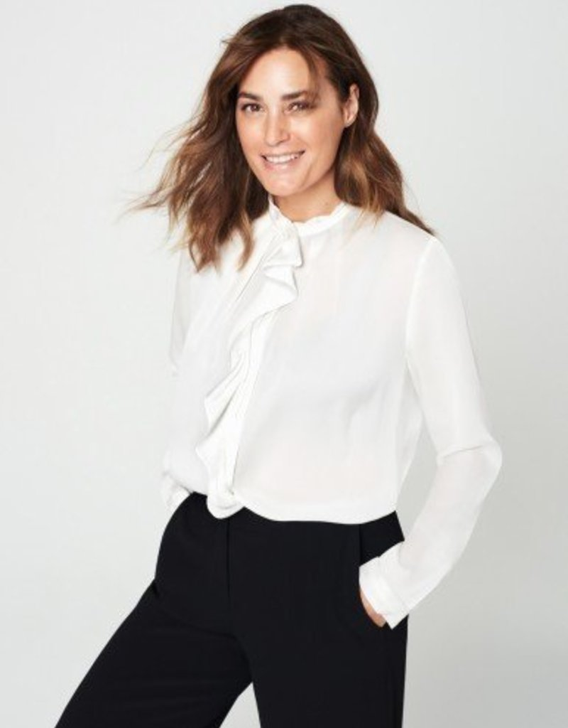 Winser London WL- Silk Ruffle Shirt