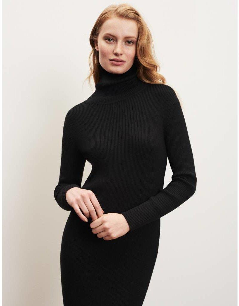 Winser London WL- Midi Knitted Roll Neck Dress