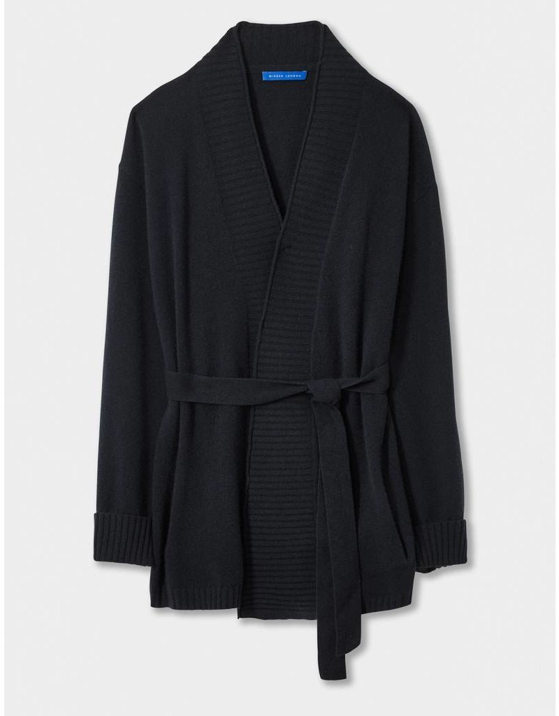 Winser London WL- Audrey Cashmere Belted Cardigan