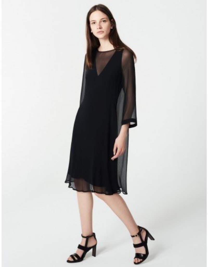 Winser London WL- Georgette Silk Layered Shift Dress