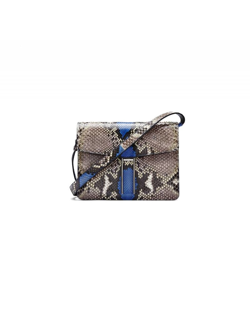 Hayward H Crossbody- Natural/ Blue Painted Python