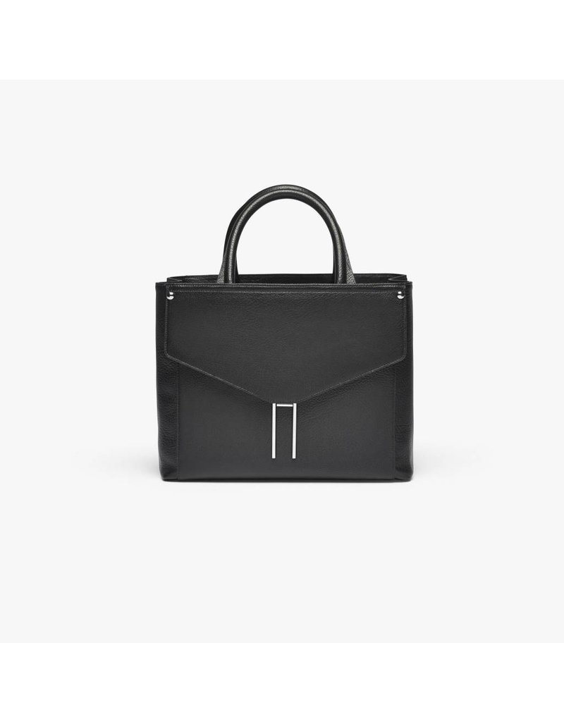 Hayward HL- Booth Satchel- Black Buffalino