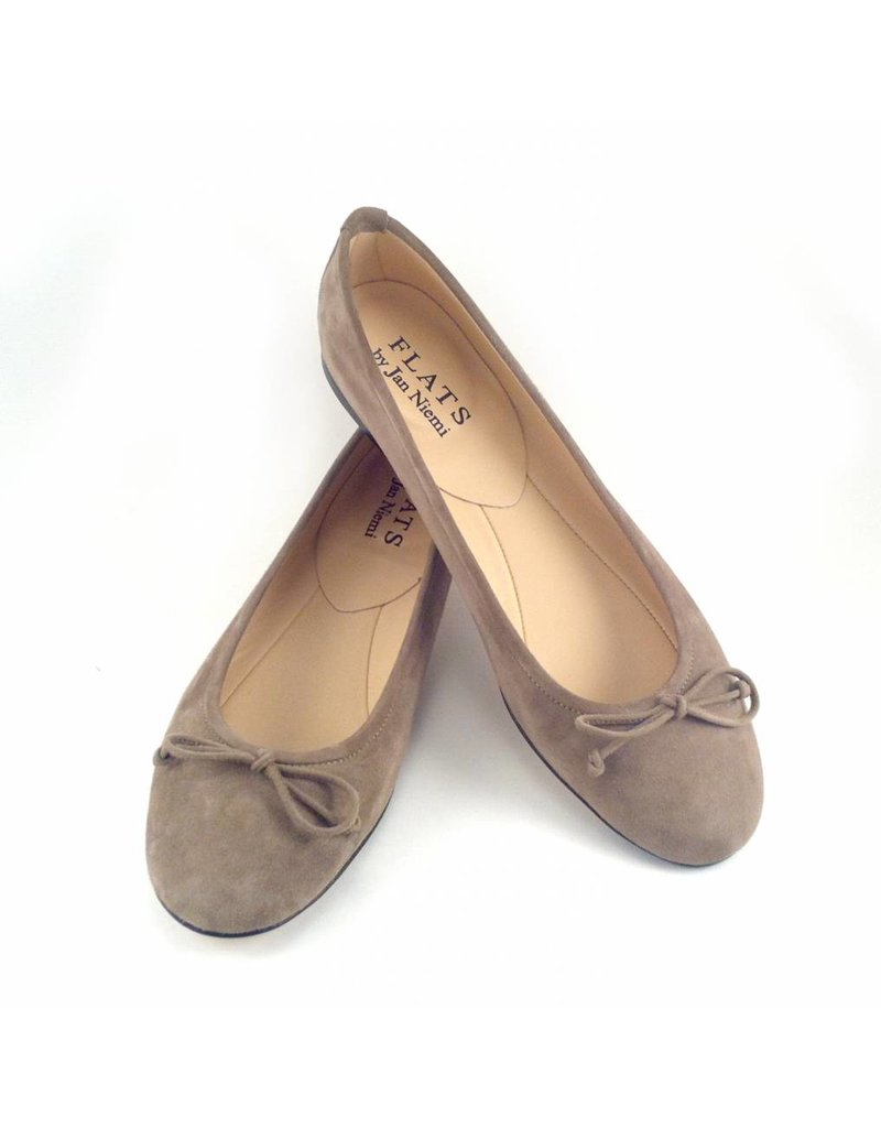 Flats Ballerina- Suede Taupe