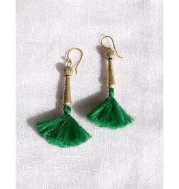 Anna Von Hellens AVH- #14 Silk Tassel Earrings
