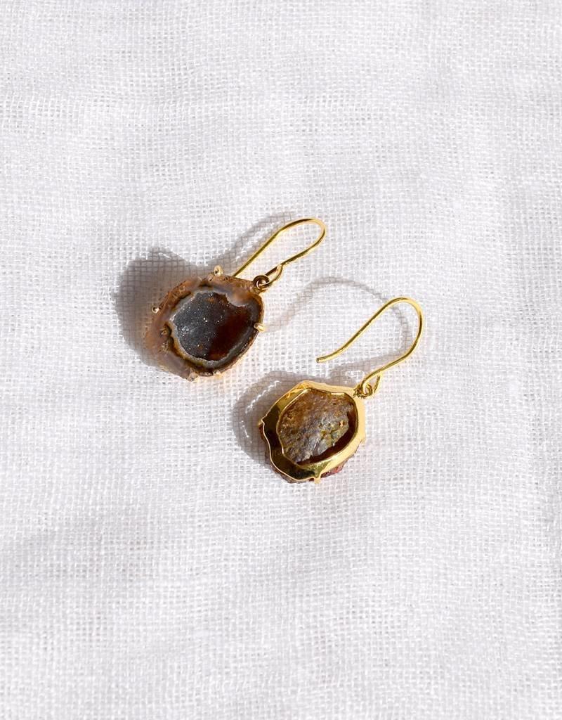 Anna Von Hellens AVH- #3-5 18K Agate Earrings