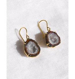 Anna Von Hellens AVH- #1-2 18K Agate Earrings