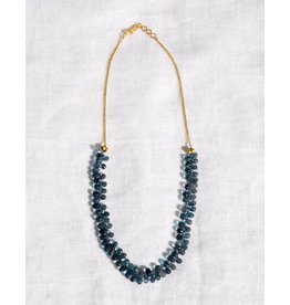 Anna Von Hellens AVH- #20 Blue Topaz 22K Necklace