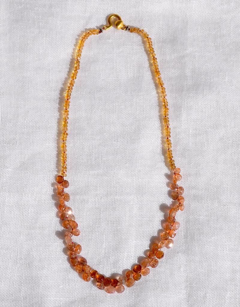 Anna Von Hellens AVH- #30 Fire Opal Necklace
