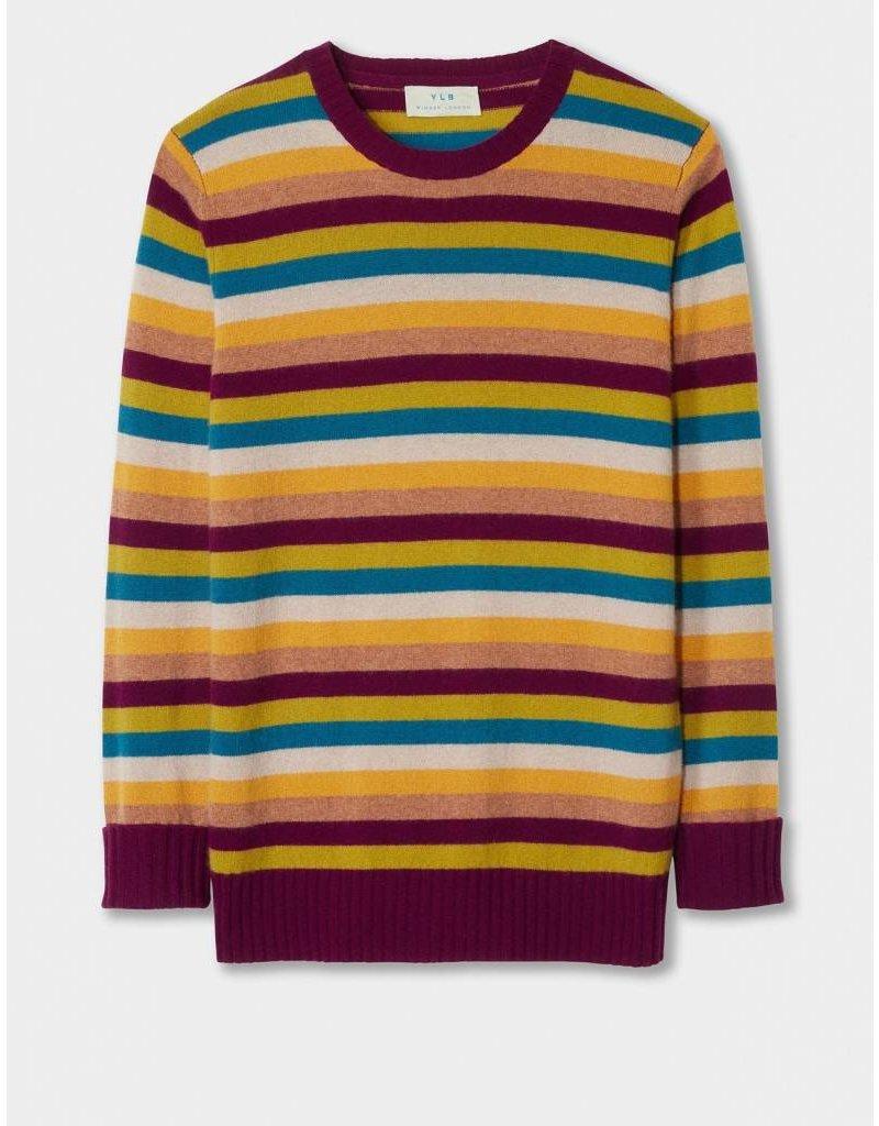 Winser London YLB- Striped Cashmere Boyfriend Jumper